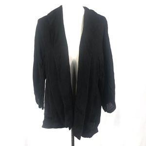 Eileen Fisher Linen Blend Open Front Jacket Blazer